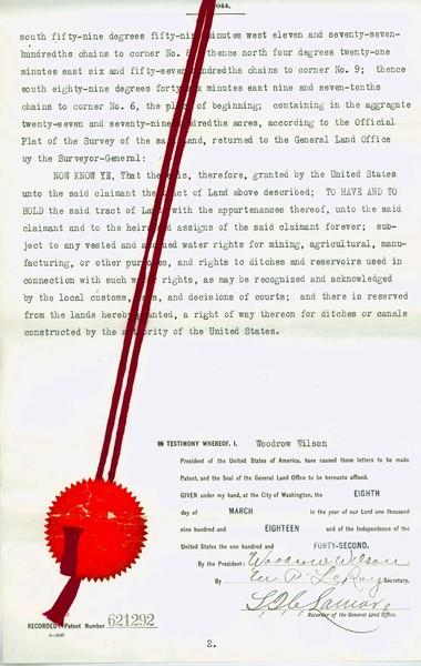 Certificate of Register, John M. Narner, page 2.