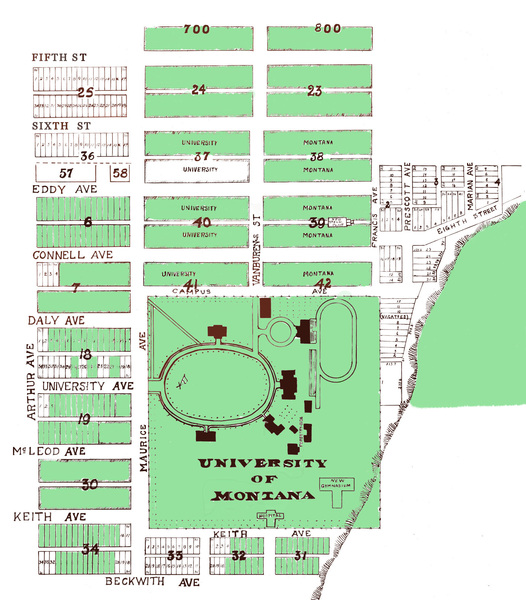 University of Montana-Missoula Campus Property Maps<br />