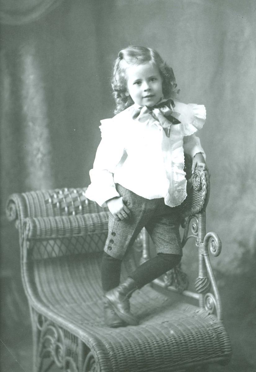 Studio photograph of child