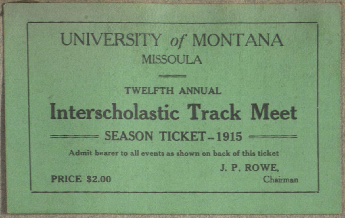 Interscholastic Meet Season Tickets