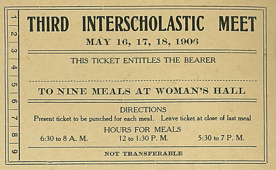 Interscholastic Meet Tickets