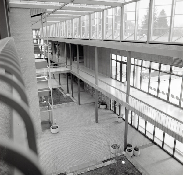 View of the interior of the University Center from the third floor.