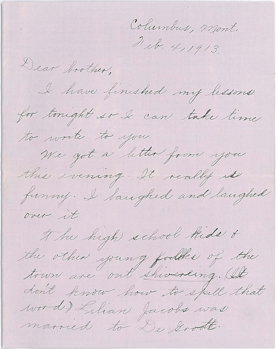 Letter from Ruth Line to Robert Line