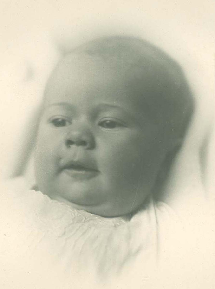 Studio portrait of baby's face