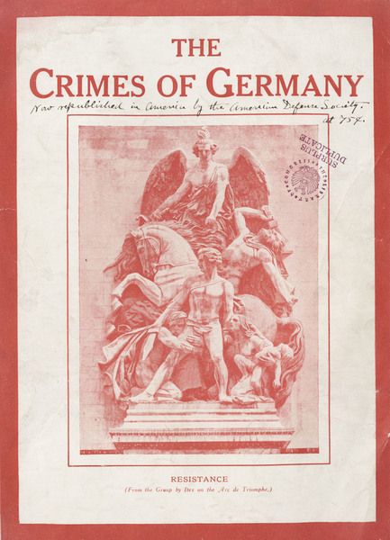 The Crimes of Germany, cover.
