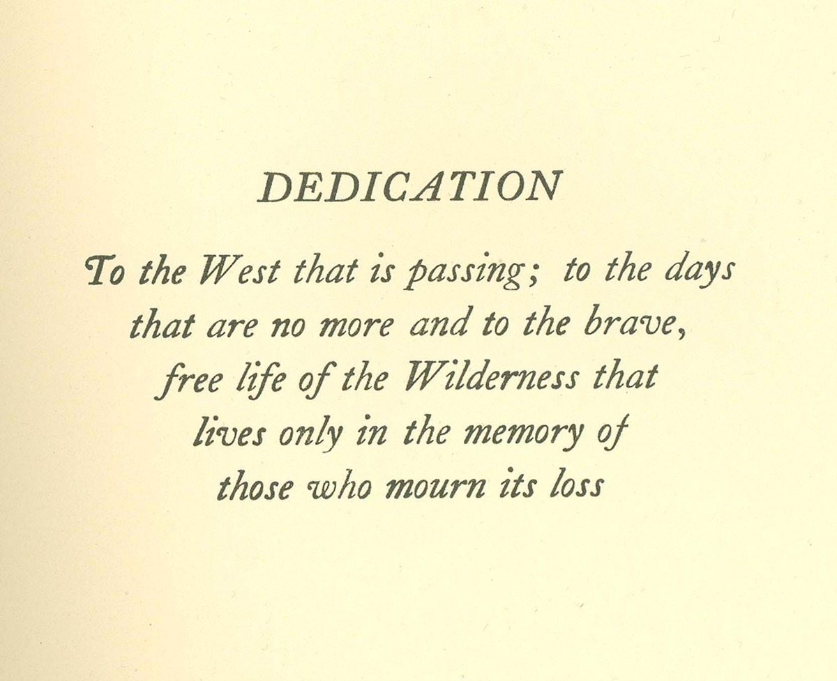 Trails Through Western Woods, cover and dedication