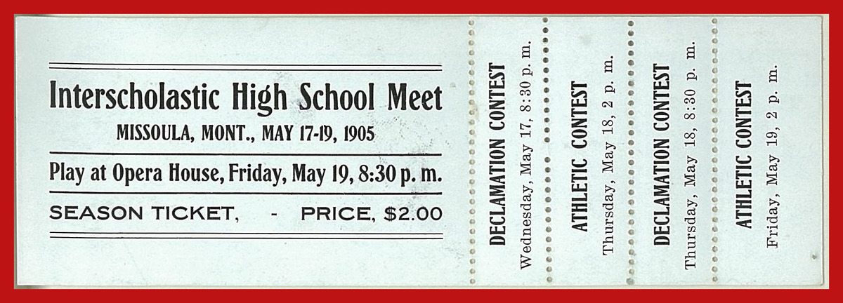Interscholastic High School Meet Season Ticket