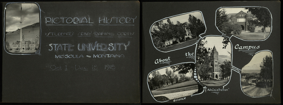 Student Army Training Corps Photograph Album, pages 1 and 2.