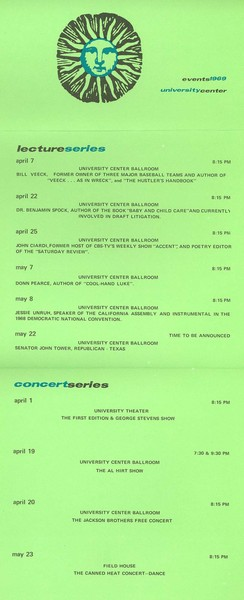University Center Events Calendar