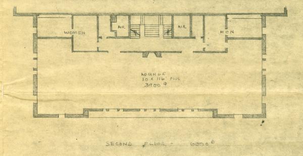 Fine Arts Building, Second Floor Plans