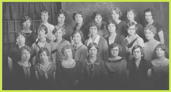 The University of Montana Home Economics Department, group photograph.