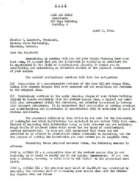 Letter from John Paul Jones to Charles W. Leaphart, university president
