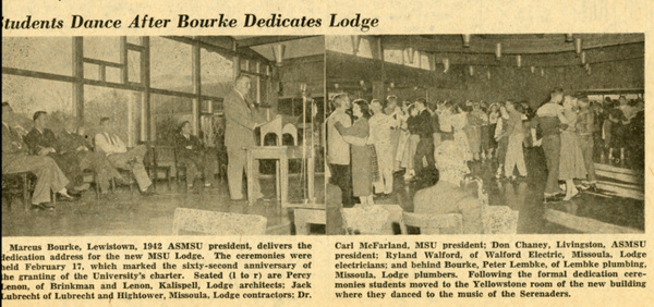 Students Dance After Bourke Dedicates Lodge, page 1.
