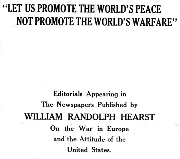 Let Us Promote the World's Peace Not Promote the World's Warfare, cover.