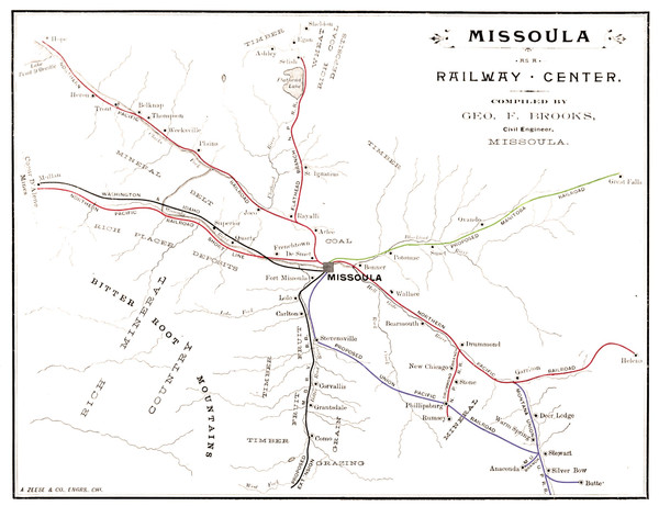 Missoula illustrated. Published under the auspices of the Missoula Board of Trade, page 9, 28 and 43.
