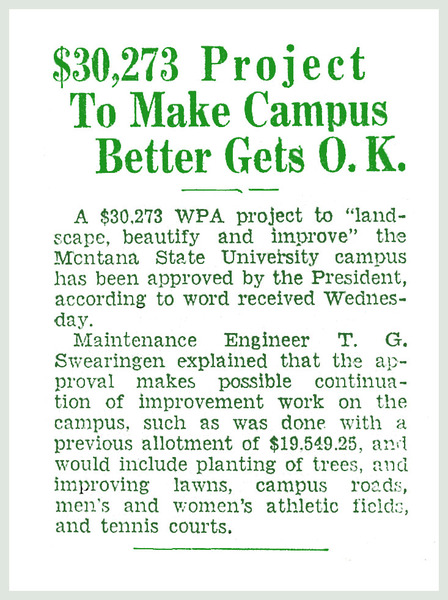 $30,273 Project to Make Campus Better Gets O.K.<br />