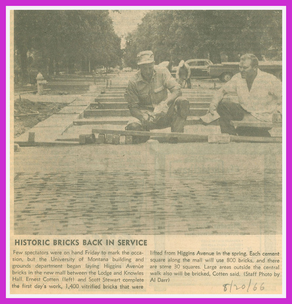 Historic Bricks Back in Service, page 1<br />