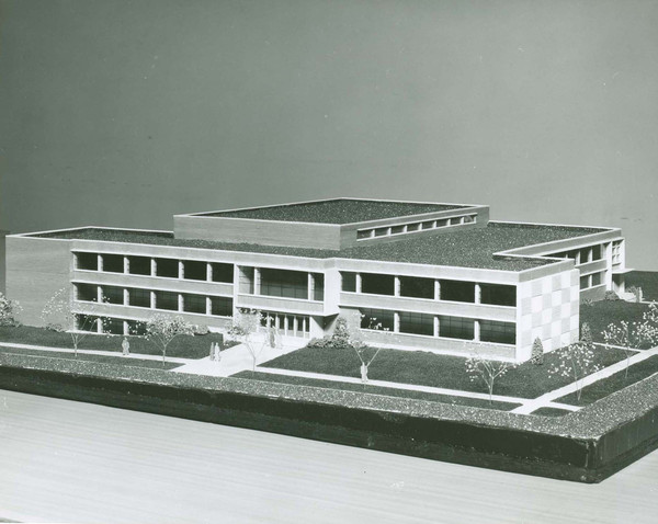Architects Model of Women's Center Building.