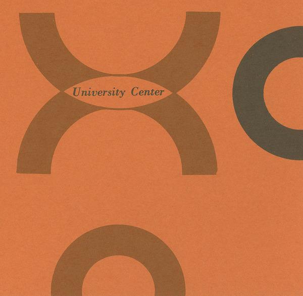 University Center Booklet, cover.