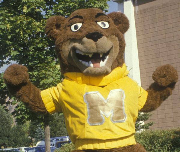 Otto, the University of Montana mascot.
