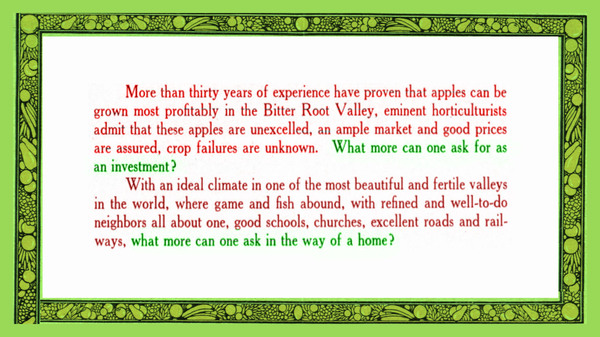 Charlos Heights Orchards in the Bitter Root Valley: The Home of the Famous McIntosh Red Apple, page 7.