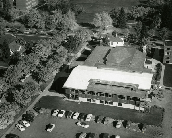 Aerial view of the Lodge.