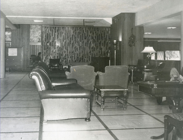 Lounge on the first floor of the lodge.