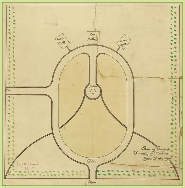 Plan of campus<br />