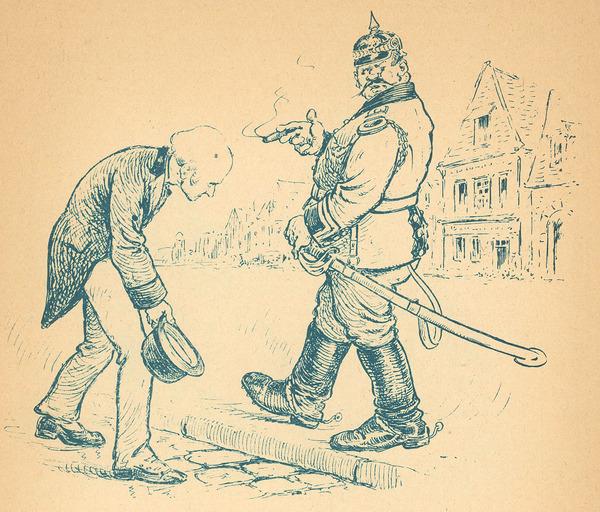 La Tyrannie des Kommandanturs, page 5. (The Tyranny of the Kommandanturs)