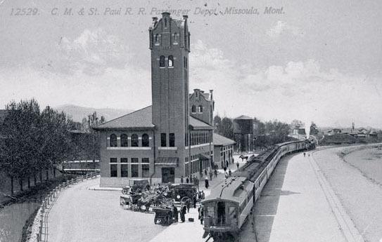 CM and St. Paul Railroad passenger depot, Missoula