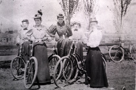 Women on bicycles, Missoula.