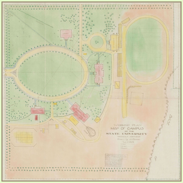 Working Plan Map of the Campus of the State University, Missoula, Montana<br />