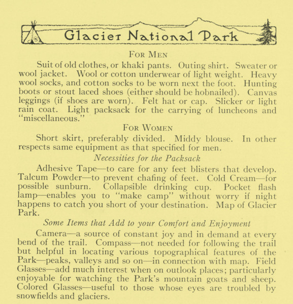 Glacier National Park: Walking Tours, page 9.
