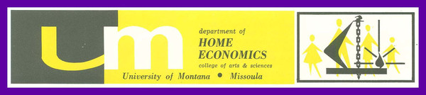 UM Department of Home Economics, header.