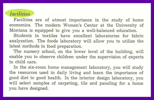 UM Department of Home Economics, page 2.