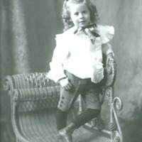Studio photograph of child