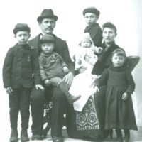 Studio photograph of family