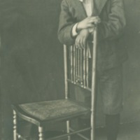 Studio photograph of boy