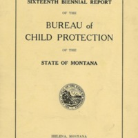 Bureau of Child Protection, cover, page 0 and page 1