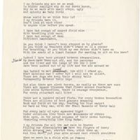 Draft of For All the Sad Rain, July 17, 1983