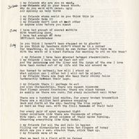 Draft of For All the Sad Rain, October 10, 1978