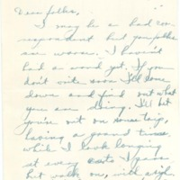 Letter from Ruth Line to her Family
