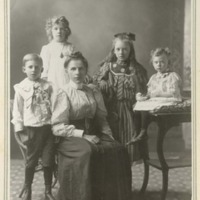 Annie Snedmeyer and children