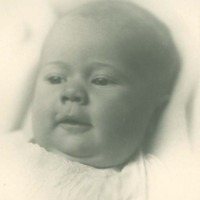 Studio portrait of baby's face