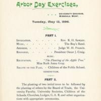 Arbor Day Exercises Program