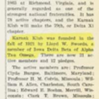 Karnaks Granted Alpha Tau Omega&lt;br /&gt;<br />
