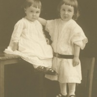Studio photograph of two children