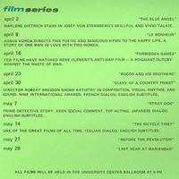 University Center Film Series Calendar