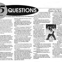 15 Questions with Griz Mascot Monte, page 7.