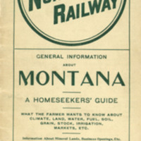 General Information About Montana: A Homeseeker's Guide, cover.